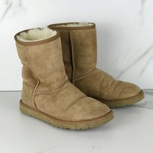 Ugg Suede Ankle Snow Winter Boots Bootie W6